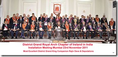 District Grant Royal Arch Chapter of Ireland in India - Installation Meeting, Mumbai, 23.11.2011