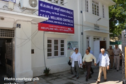 The Union Minister for Health and Family Welfare, Dr. Harsh Vardhan visiting the CGHS dispensary at North Avenue, in New Delhi on September 01, 2014.