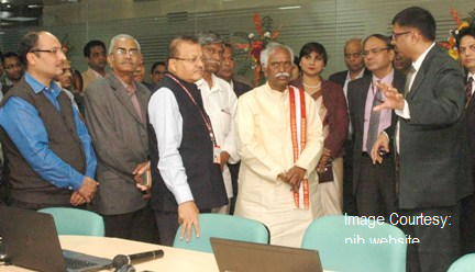 The Minister of State for Labour and Employment (Independent Charge), Shri Bandaru Dattatreya visiting the Global Network Operations Centre (g-NOC) of Employees Provident Fund Organisation (EPFO), in New Delhi on February 10, 2016.