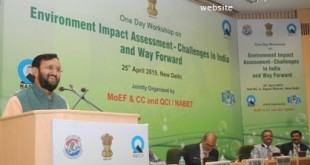 The Minister of State for Environment, Forest and Climate Change (Independent Charge), Shri Prakash Javadekar addressing at the inauguration of a workshop on 'Environmental Impact Assessment – Challenges in India and Way Forward', New Delhi on April 25, 2015.