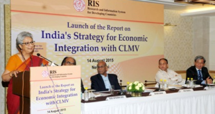 """Launch of the Report on """"India's Strategy for Economic Integration with CLMV"""", in New Delhi on August 14, 2015"""