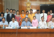 The Minister of State for Development of North Eastern Region (I/C), Prime Minister's Office, Personnel, Public Grievances & Pensions, Department of Atomic Energy, Department of Space, Dr. Jitendra Singh with the candidates who have qualified for the Indian Civil Services-2014 Examination, in New Delhi on July 06, 2015. The Union Home Secretary, Shri L.C. Goyal, the Secretary, DoPT, Shri Sanjay Kothari and other senior officials are also seen.