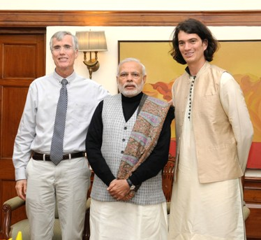 Mr. Adam Neumann, Founder WeWork (Start Up India Participant) call on the Prime Minister, Shri Narendra Modi, in New Delhi on January 15, 2016.