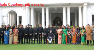 The Vice President, Shri M. Hamid Ansari with a group of IAS probationers including officer trainees from the Royal Bhutan Civil Services attending the IAS Professional Course Phase–I for the 2015 Batch, in New Delhi on February 25, 2016.