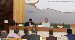 "The Union Minister for Finance, Corporate Affairs and Information & Broadcasting, Shri Arun Jaitley addressing the participants of the ""India's Macro-Economic Outlook"", as a Part of Phase V of Mid-Career Training Programme for IAS Officers, in New Delhi on October 15, 2015."