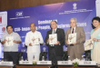 The Union Minister for Heavy Industries and Public Enterprises, Shri Anant Geete releasing a CSR Compendium at the inauguration of the Seminar on CSR - Impacting people, Transforming lives, in New Delhi on September 15, 2015.