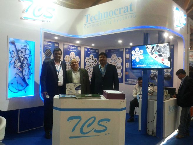 Technocrat Connectivity Systems, Gurgaon - Stall in Auto Expo Exhibition at Pragati Bhawan on February 05, 2016