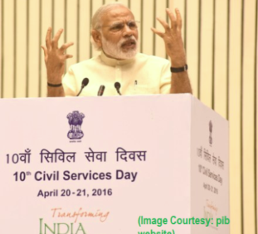 The Prime Minister, Shri Narendra Modi addressing at the 10th Civil Services Day function, in New Delhi on April 21, 2016