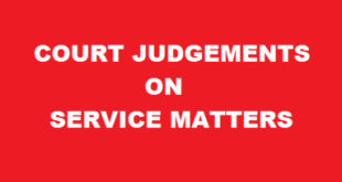 Court Judgements on Service Matters