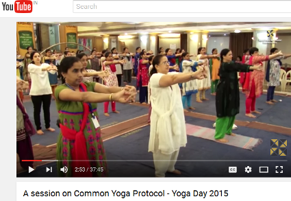 International Yoga Day - 2015 (Image Courtesy: Youtube)