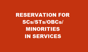 Reservation for SCs/STs/OBCs/Minorities