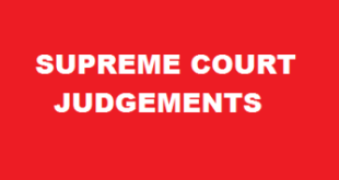 Supreme Court Judgements