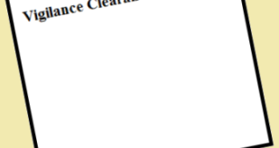 Vigilance Clearance Certificate