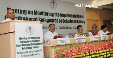 The Union Minister for Social Justice and Empowerment, Shri Thaawar Chand Gehlot addressing at the inauguration of the meeting of Chief Secretaries, Secretaries (Home), Secretary Social Welfare and Director Generals of Police of the State to discuss the issues of atrocities on Scheduled Castes and utilization of Scheduled Castes Sub- Plan Funds, in New Delhi on July 21, 2016. The Ministers of State for Social Justice & Empowerment, Shri Krishan Pal, Shri Vijay Sampla and other dignitaries are also seen.