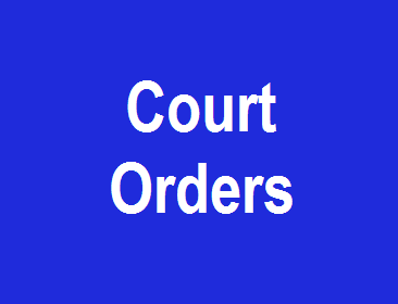 Court Orders