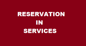 Reservation in Servicces