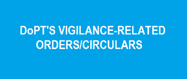 DoPT's Vigilance-Related Circulars