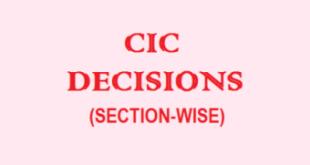 CIC Decisions