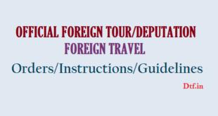 Foreign Tour/Deputation