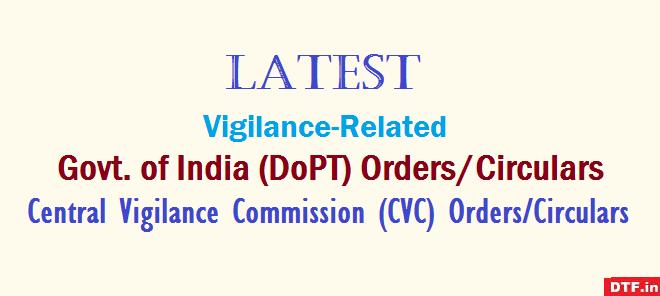 DoPT, CVC Orders