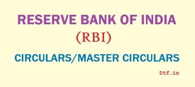 RBI Circulars