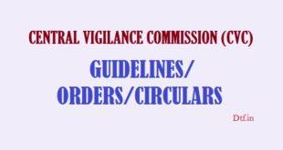 CVC Guidelines/Orders/Circulars