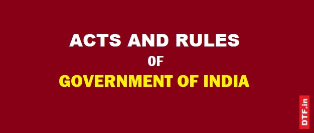 Acts and Rules