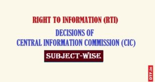 CIC Decisions - Subject-Wise