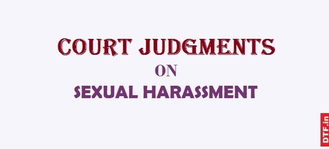 Court Judgments on Sexual Harassment