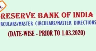 RBI Circulars-Archieve