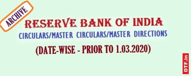 Reserve Bank Of India Rbi Earlier Circulars Master Circulars Master Directions Date Wise Disciplinary And Transparency Forum India