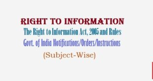 RTI Rules - Subject-Wise