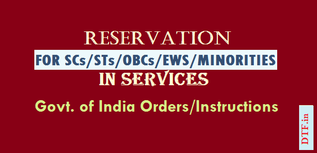 Reservation for SCs,STs,OBCs,EWS, Minorities