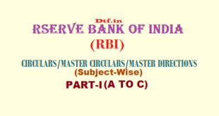 RBI - Part-I (A to C)