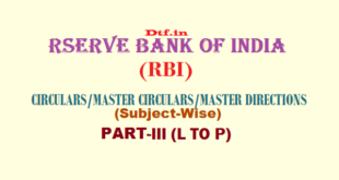 RBI - Part-III (L to P)