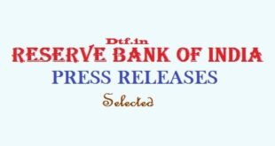 RBI - Press Releases