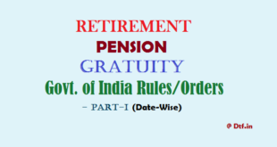 Retirement/Pension-I