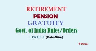 Retirement/Pension-I