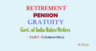 Retirement/Pension-II