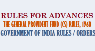 Rules for advances-GPF Rules