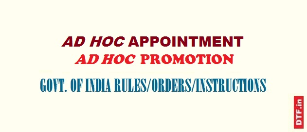 Ad hoc appointment-promotion