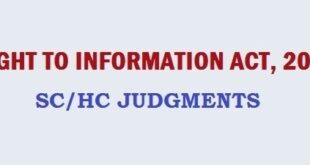 SC/HC Judgments on RTI
