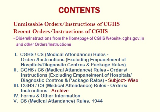 CGHS - Contents