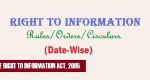 RTI Act/Rules