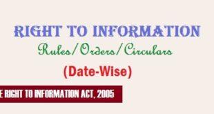 RTI Act/Rules