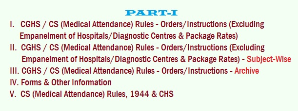CGHS Rules - Part-I