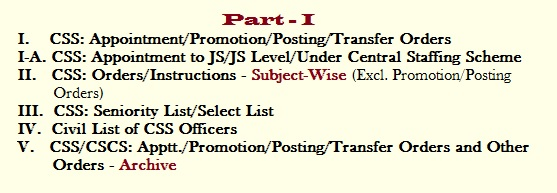 CSS Orders - Part-I