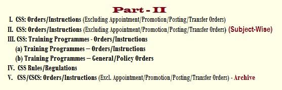 CSS Orders - Part-II