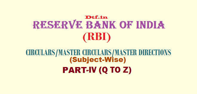 RBI - Part-IV (Q to Z)