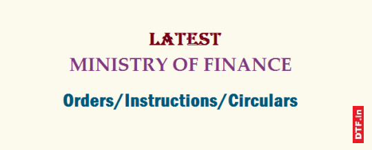 Ministry of Finance Orders